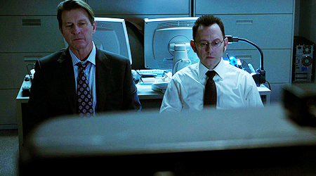 Ingram and Finch watch the news on 9/11 in horror.