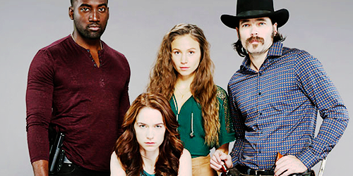 The supremely talented cast of Wynonna Earp.